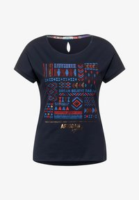 Cecil - MIT ETHNO-PRINT - Print T-shirt - blau - 3