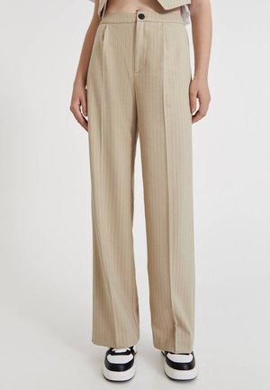 Pantalon classique - mottled beige