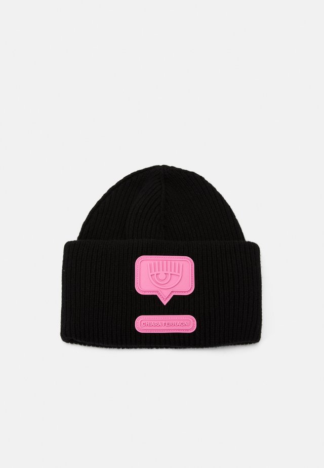 PATCH BEANIE - Huer - black