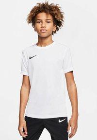 Nike Performance - Basic T-shirt - weiss/schwarz (909) - 0