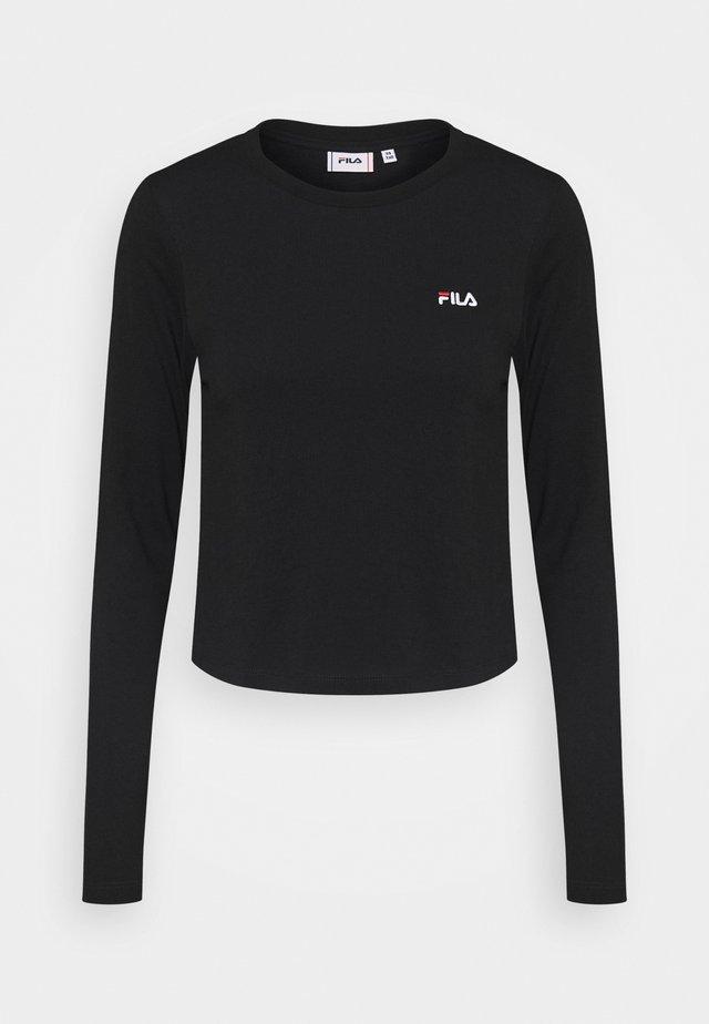 EAVEN CROPPED LONG SLEEVE - T-shirt à manches longues - black