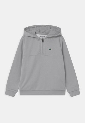 TECH HOODY ZIP UNISEX - Sweatshirt - silver/elephant grey