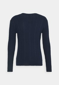 Only & Sons - ONSRIGE THIN CABLE CREW NECK - Stickad tröja - dress blues - 1