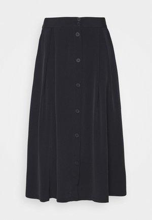 SIGRID SKIRT - Spódnica trapezowa - black dark solid