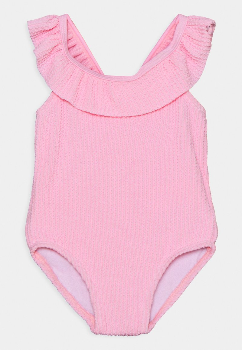 Cotton On - FRILL SWIMSUIT - Swimsuit - cali pink