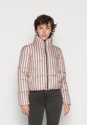 ONLTABITTA SHORT PUFFER JACKET - Winter jacket - pink tint