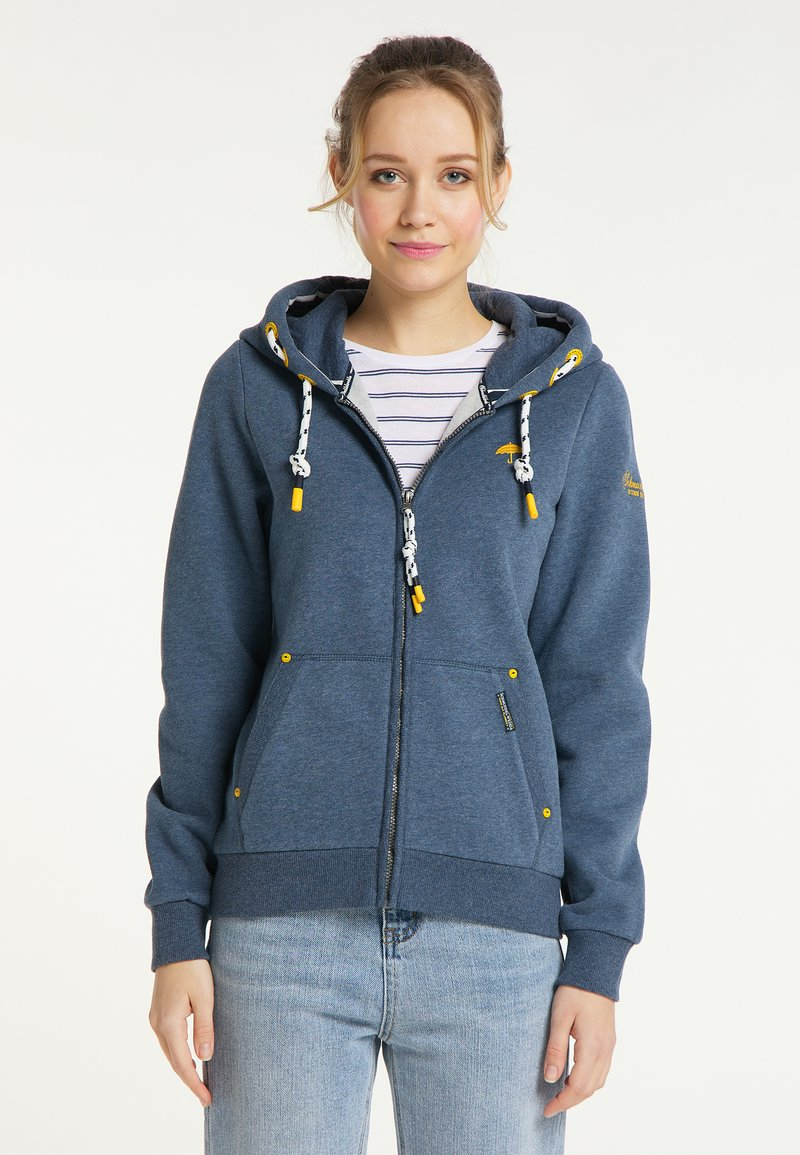 Schmuddelwedda - SWEATJACKE - Zip-up sweatshirt - marine melange