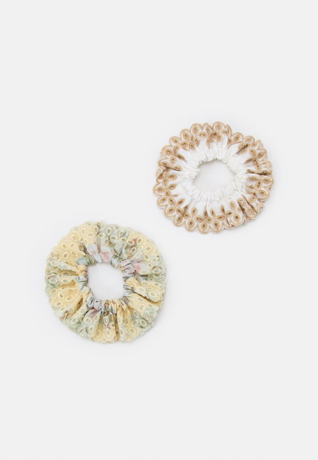 BRODERIE ANGLAIS SCRUNCHIE 2 PACK - Hair Styling Accessory - white/sand/tan