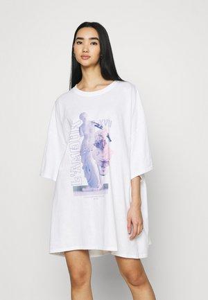 LAMOUR STATUE DRESS - Jersey dress - white