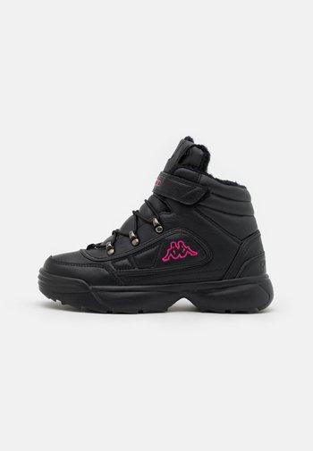 SHIVOO ICE UNISEX - Hiking shoes - black/pink