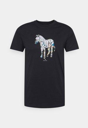 SLIM FIT ZEBRA UNISEX - T-shirt con stampa - black