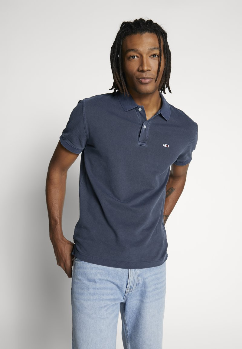 Tommy Jeans - GARMENT DYE - Polo shirt - twilight navy