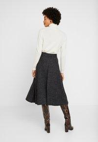 Esprit Collection - SKIRT - A-snit nederdel/ A-formede nederdele - gunmetal - 2