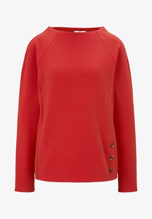 BUTTON DETAIL - Sweatshirt - strong red