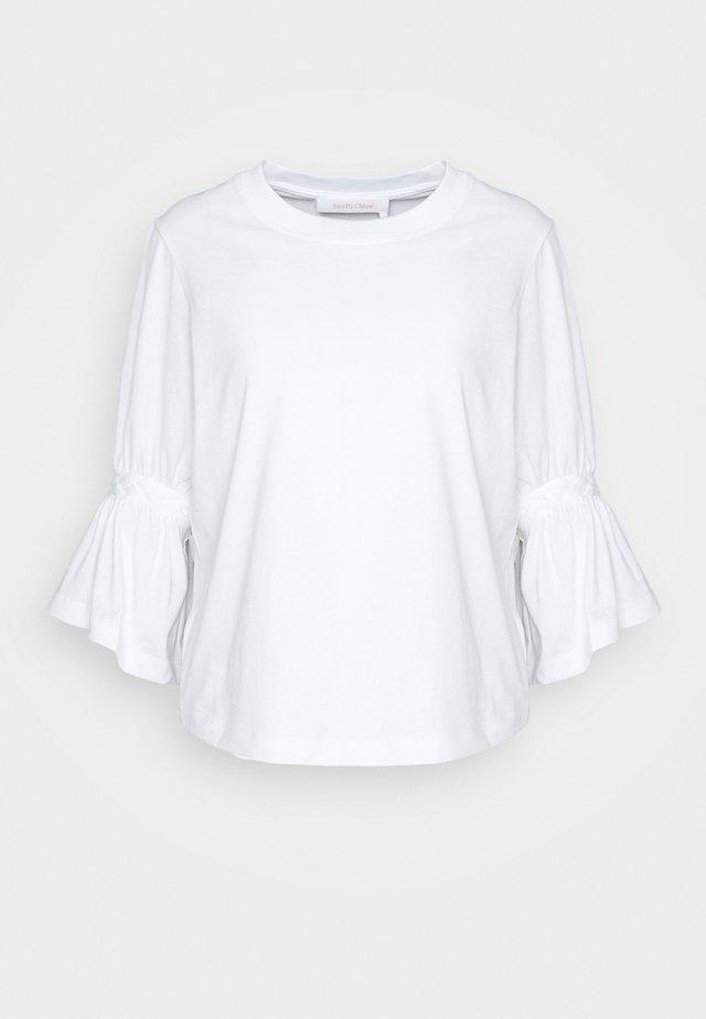 Langarmshirt - white powder