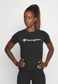 Champion - CREWNECK ROCHESTER - T-shirts med print - black - 0