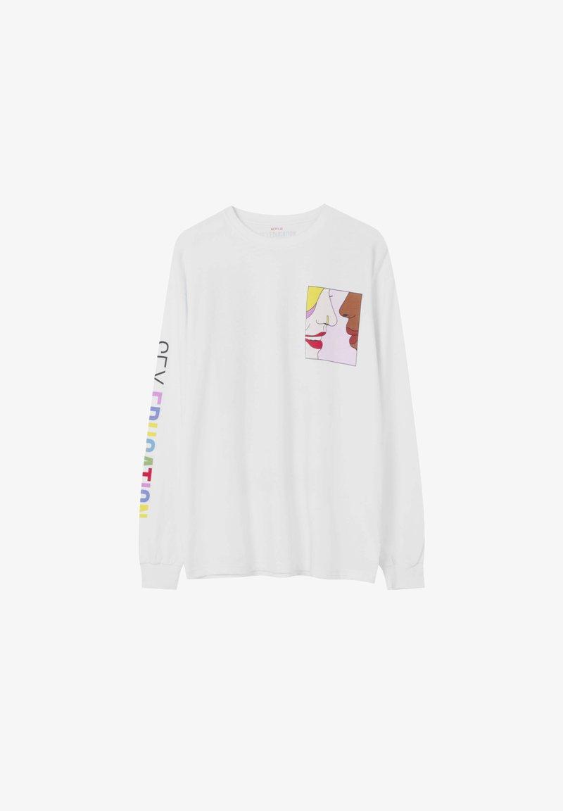PULL&BEAR Sweatshirt - white/weiß drla9r