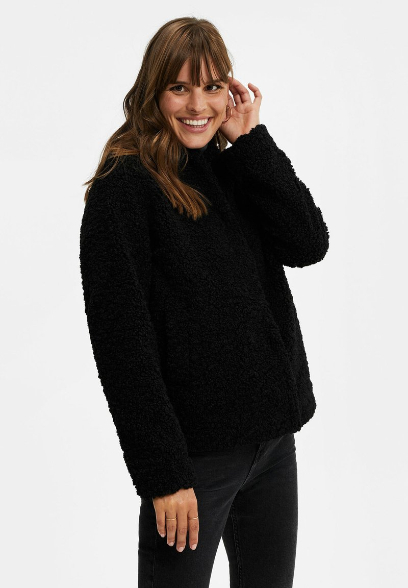 WE Fashion - Fleece jacket - black