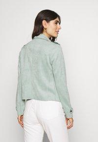 Cartoon - Faux leather jacket - granite green - 2