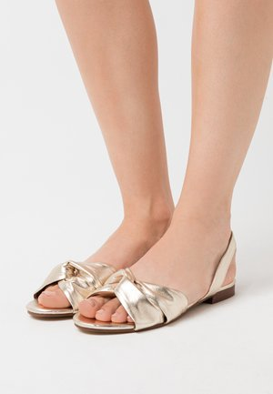 LUCKY KNOT SLINGBACK - Sandals - gold