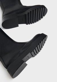 Bershka - Wedge boots - black - 6