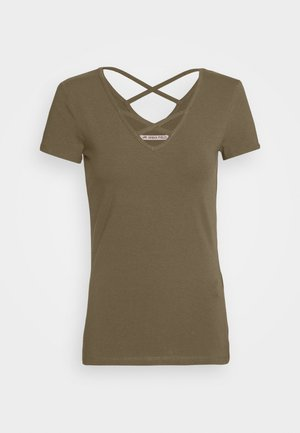 Print T-shirt - olive night