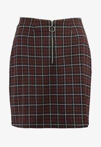 Vero Moda - VMBRITTA SHORT SKIRT - A-line skirt - black/mahogany - 3