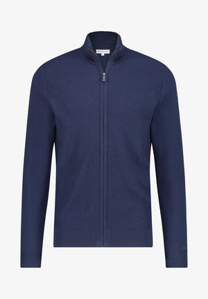 FULL ZIP STRUCTURED - Cardigan - bright navy