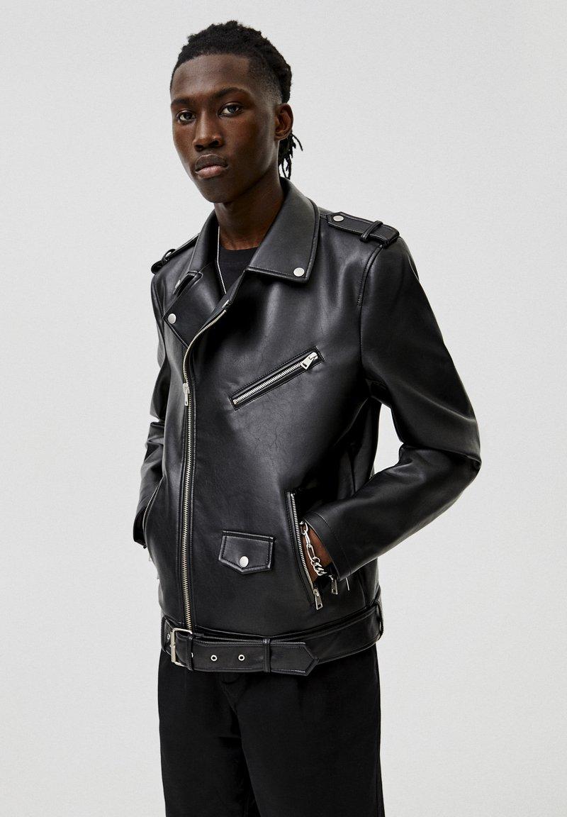 PULL&BEAR - Faux leather jacket - black