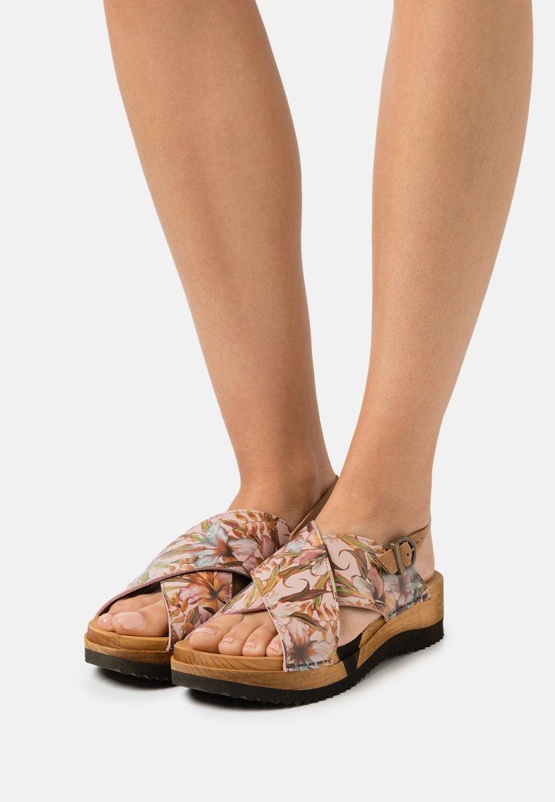 Sanita - TISKA SPORT FLEX  - Clogs - multicolor/nude