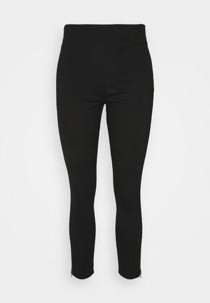 Punto Business Legging with Zip Hem - Leggings - Trousers - black