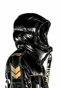 JACK1T - Denim jacket - black/wet black/gold - 3