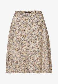 zero - MIT BLUMENDRUCK - A-line skirt - raw cotton - 4