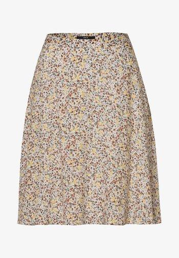 MIT BLUMENDRUCK - A-line skirt - raw cotton