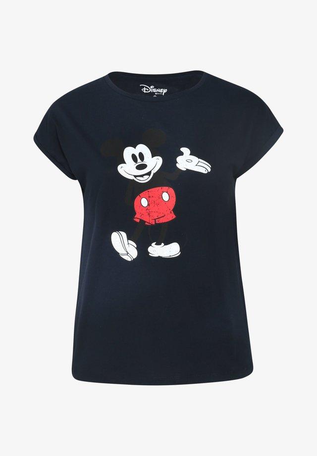 MIT MICKY-MAUS - T-shirt print - marine