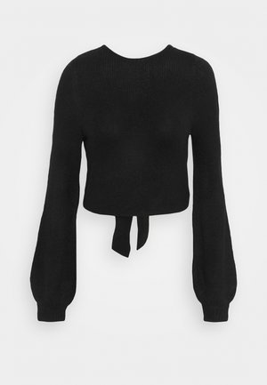 BOW BACK PARTY COLLECTION - Strikpullover /Striktrøjer - black