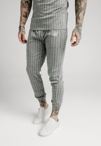 SIKSILK - Pantaloni sportivi - grey pin stripe - 0