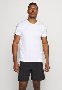 adidas Performance - RESPONSE RUNNING SHORT SLEEVE TEE - T-shirt med print - white - 0