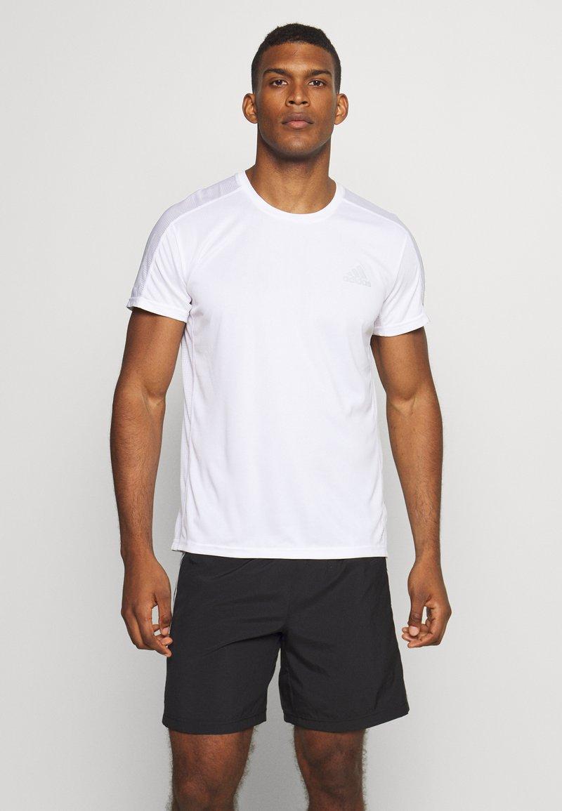 adidas Performance - RESPONSE RUNNING SHORT SLEEVE TEE - T-shirt med print - white