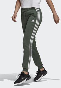 adidas Performance - ESSENTIALS FRENCH TERRY STRIPES PANTS - Tracksuit bottoms - greoxi/white - 2