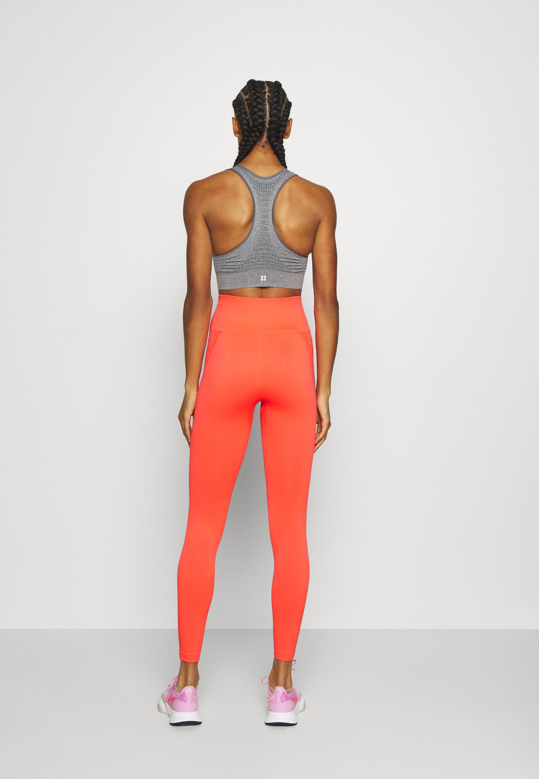 ONLY Play ONPJASE CIRCULAR  - Leggings - fiery coral By9kq