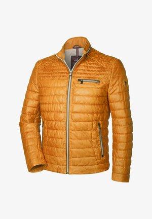 TERENZ - Leather jacket - maisgelb
