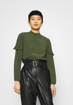 TIERED LONG SLEEVE - Blouse - dark green