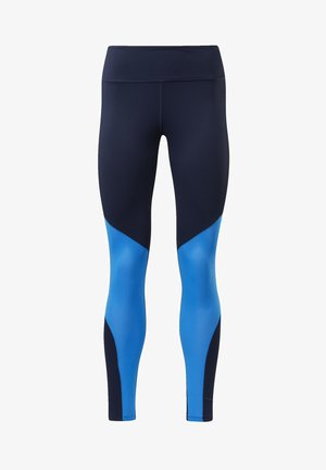 REEBOK LUX BOLD MESH 2 LEGGINGS - Legginsy - blue