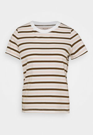 STRIPE - Print T-shirt - doberman/peach blush