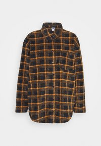 BDG Urban Outfitters - BRUSHED CHECKED SHACKET - Button-down blouse - orange - 4