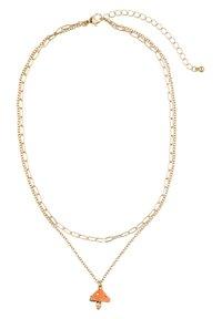 Six - MIT PILZ UND STRASSSTEINEN - Necklace - goldfarben - 2