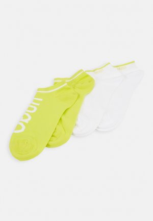 LOGO 2 PACK - Calcetines - white/light yellow