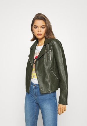GEMMA BIKER - Faux leather jacket - rosin