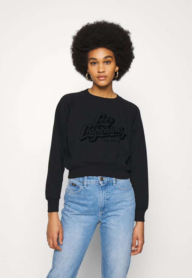 VINTAGE CROPPED  - Sweater - black